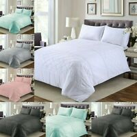 King Size Belmont Pintuck Duvet Cover 200TC Bedding Sets 100% Egyptian cotton