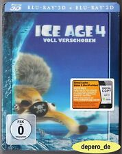 """ICE AGE 4 - VOLL VERSCHOBEN"" - 3D + 2D BLU RAY STEELBOOK - Lenticular/Holocover"
