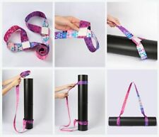Yoga Mat Shoulder Strap Carrier Bag Sling Exercise Adjustable Elastic Carry Belt