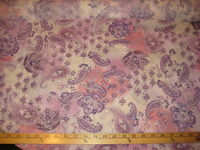 "Purple/Coral/Pink Allover Paisley 100% Polyester Chiffon Fabric  58"" W BTY"