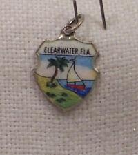 Vintage REU Sterling/Enamel Clearwater, Florida Bracelet/Travel Charm NOS
