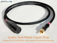 A06 (0.5m 1.5ft) --- RCA/Phono(male) to XLR(Female) Choseal 4N-OFC Audio Cable