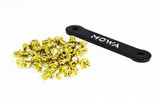 MOWA Skid-proof Mountain Bike Platform Pedal Pins Replacement Screws Bolts Gold