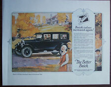 """1925 Print Ad Repro, Buick Master Six Sedan, Suitable to Frame, 11""""x14"""", EX Cond"""