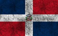 "Dominican Republic Flag Vinyl Decal Sticker JDM Rustic Vintage - 5"" in."