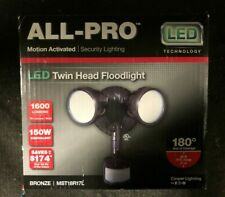 Eaton All-Pro 1600Lm Motion-Activated Led Twin Head Floodlight Mst18R17L New
