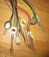 Themed Shell Eagle Horses No Separating 8Pcs Vintage Bolo Tie Lot Southwestern