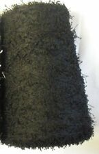 POLYESTER VINTAGE PIGTAIL 3000 YPP LACE WEIGHT CONE YARN 15 LBS BLACK (P9)