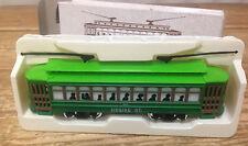 Vintage Doll House Dollhouse Mini Green HO Classic Street Car Desire Trolley #2