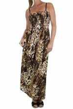 Polyester Animal Print Stretch Dresses for Women