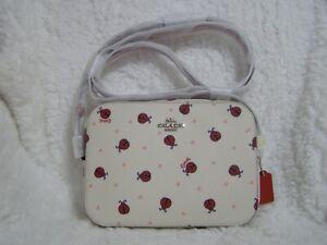 Coach Ladybug Mini Camera Bag (Chalk/Red) - NWT (2461)