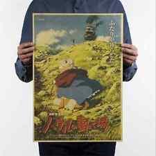 Howl's Moving Castle  Miyazaki Hayao Animation Vintage Home Decor Retro Poster