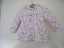 Baby Girl 9-12 months Reversible Cotton Hooded Front Fastening Coat