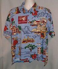 Reyn Spooner Choice Sportswear Vtg 70's Hawaiian Islands Polo/Golf Shirt SZ L