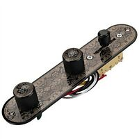 3 Way Switch Loaded Guitar Control Plate for Telecaster Guitar Black