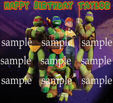 NINJA Turtles Edible CAKE Decoration Topper ICING Image FREE SHIPPING tmnt