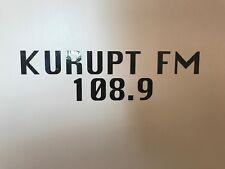 Kurupt FM 108.9 Pegatina Mc grindah Dj Beats Caja de Herramientas Coche Decal 250 mm