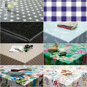 Wipe Clean PVC Vinyl Tablecloth Oilcloth ROUND 140cm Circle 55 inch Table Cover