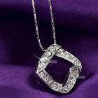 18k gold gp made with SWAROVSKI crystal pendant necklace