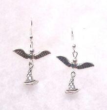 Harry Potter Inspired EarringsFlying  Sorting Hat  9.25 Hooks