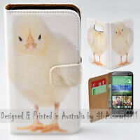 For HTC Series Mobile Phone - Cute Chick Portrait Print Wallet Phone Case Cover