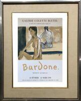 GUY BARDONE (1927-2015) AFFICHE LITHOGRAPHIQUE GALERIE BLETEL 1979 MOURLOT (2)