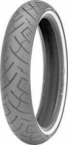 100/90-19 F777 61H White Wall Reinforced Front Tire Shinko 87-4588