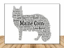Maine Coon Cat Personalize Cat Name Lover Custom Gift