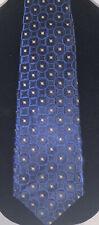 ISAIA 100% Silk 7 FOLD Men's Luxury Tie Dark Blue