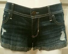 HOLLISTER by Abercrombie Destroyed Low Rise Jean Shorts Ladies Sz 27 (5) *NWT*
