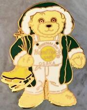 Hard Rock Cafe UC OSAKA 2001 Merry Christmas PIN Teddy Bear Green Coat HR #17652