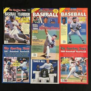 7 Issues The Sporting News Baseball Yearbook - 1987, '88, '89, '90, '91, '92, '9