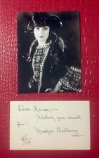 """""""Madge Bellamy"""" signed index card! (3x5)...personalized To Renee!!!/and dated!!!"""