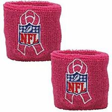 NFL Shield Breast Cancer Awareness 2-Pack Wristbands Pink NWT