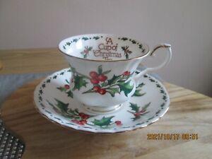 A Cup Of Christmas Tea Bone China Cup & Saucer Waldman House Press Tom Hegg