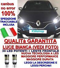 2 T10 30 LED RENAULT CAPTUR CANBUS NO ERROR 100% LUCE POSIZIONE POTENTI W5W !