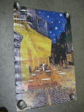 Vincent Van Gogh vintage 1992 Poster of painting Cafe terrace C1983