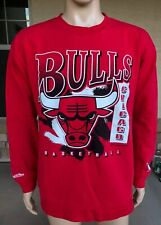 Vintage Chicago Bulls Mitchell & Ness Crewneck Sweatshirt Size 2XL