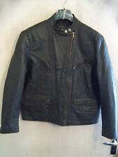 WOMANS vintage anni'70 Krawehl Leather Motorcycle giacca taglia 18