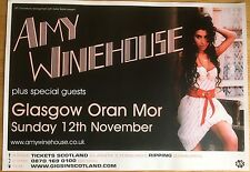 Amy Winehouse - Rare Concert/gig poster, Nov 2007, Glasgow