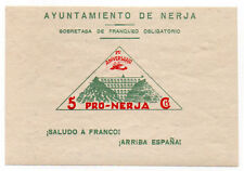 Sello Local Guerra Civil Nerja -Cat. Galvez B640E.  ORD:1206