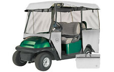 Drivable 4 Person Golf Car Cart Cover Enclosure White