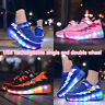 USB Rechargeable LED Roller Shoes Roller Flashing Casual Sport Sneakers for Kids