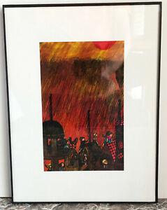 "Original Painting ~ illustration of Ray Bradbury's ""Rocket Summer"" Meatheringham"
