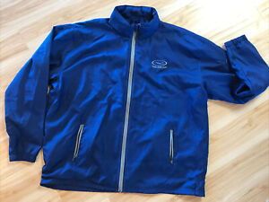 PING Performance Full Zip Rain Light Golf Blue Jacket Mens XXL EUC With LOGO