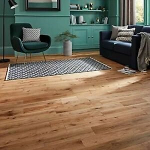 5 Planks of GoodHome Laholm Natural Oak Solid wood flooring, 1.23m² 7359