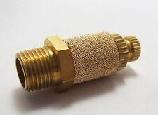 Pneumatic throttle silencer 1/8 bsp thread Controlled exhaust Sintered bronze