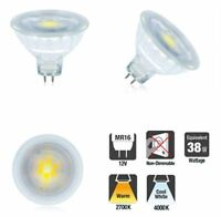 MR16 Glass 12v LED Bulbs. 4.8W in Warm or Cool Colour Temp. Single or 3 PACK.