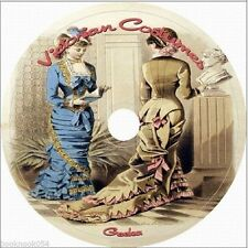 86 Victorian Costume Patterns dress making vintage Plus 23 bonus books on cd dvd