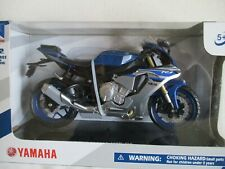 Miniature Moto Yamaha YZF R1 bleue grise New ray 1/12
